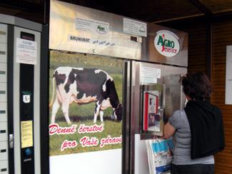 Milk machine in Prague